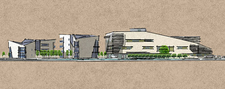Ilustration of proposed extension to the British Embassy Abu Dhabi